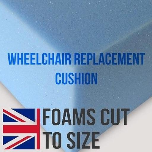 Replacement wheelchair cushions, seat, luxury, mobility JUST FOAM NO COVER