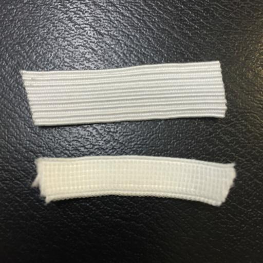 White upholstery sewing Elastic by the meter 7mm & 11mm width