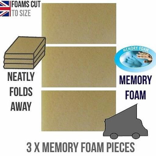 "*Memory Foam 2"" Mazda Bongo Ford Freda Mattress Topper ROCK AND ROLL"
