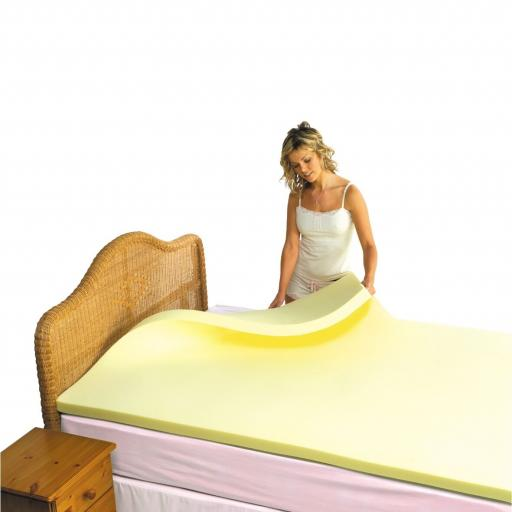 MEMORY FOAM Mattress Topper place on mattress single/double/king/super